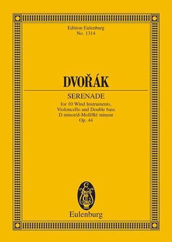 Serenade D-Moll, Opus 44 B 77 - DVORAK - Partition - laflutedepan.com