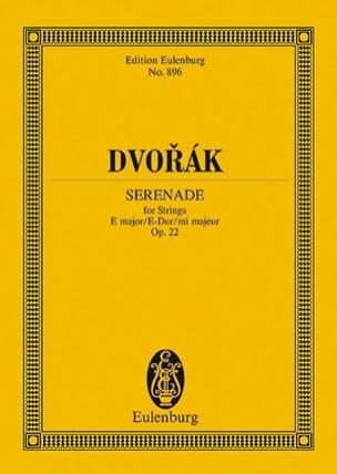 Serenade E-Dur, Op. 22 B 52 DVORAK Partition laflutedepan