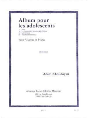 Album pour les adolescents Adam Khoudoyan Partition laflutedepan