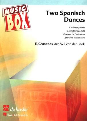 2 Spanish Dances - Clarinet quartet GRANADOS Partition laflutedepan