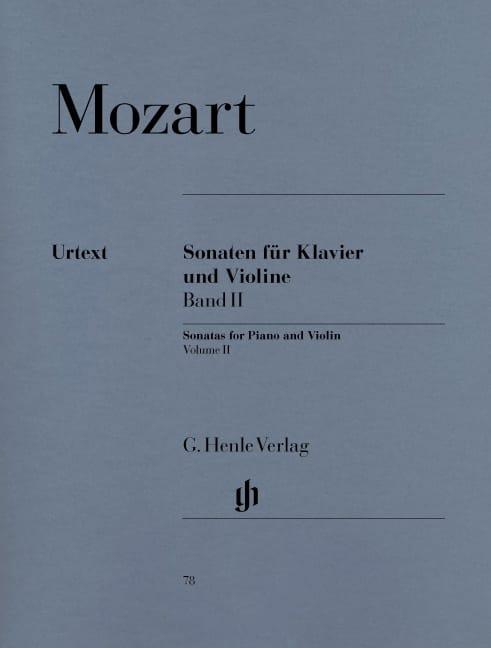 Sonates pour violon, volume 2 - MOZART - Partition - laflutedepan.com