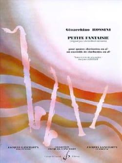 Petite fantaisie - 4 Clarinettes ROSSINI Partition laflutedepan