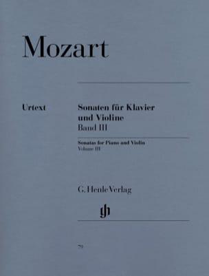 Sonates pour violon, volume 3 MOZART Partition Violon - laflutedepan