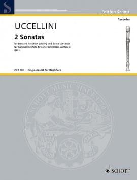 2 Sonatas -Sopranblockflöte u. Bc Marco Uccellini laflutedepan