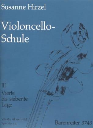 Violoncello-Schule - Heft. 3 Susanne Hirzel Partition laflutedepan