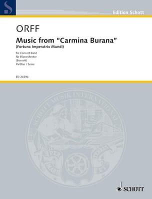 Music From Carmina Burana ORFF Partition Grand format - laflutedepan