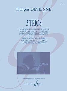 3 Trios - 1ère Suite en Sol Majeur DEVIENNE Partition laflutedepan