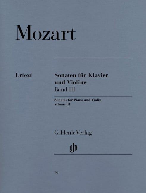 Sonates pour violon, volume 3 - MOZART - Partition - laflutedepan.com