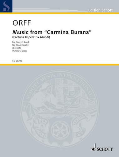 Music From Carmina Burana - ORFF - Partition - laflutedepan.com