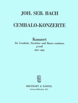 Cembalokonzert G-Moll, BWV 1058 BACH Partition laflutedepan