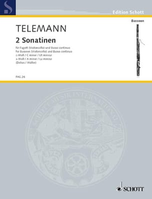 2 Sonatinen -Fagott und Bc TELEMANN Partition Basson - laflutedepan