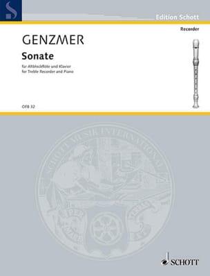 Sonate - Altblockflöte Klavier Harald Genzmer Partition laflutedepan