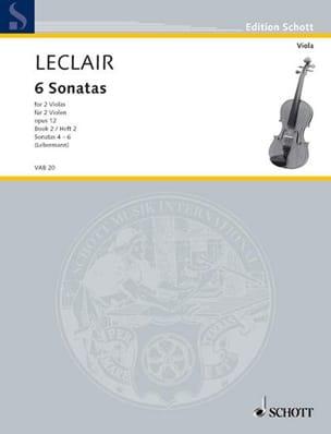 6 Sonatas op. 12, Volume 2 - 2 Violas LECLAIR Partition laflutedepan