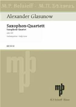 Saxophon-Quartett op. 109 - Partitur Alexandre Glazounov laflutedepan