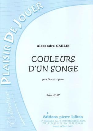 Couleurs D'un Songe Alexandre Carlin Partition laflutedepan