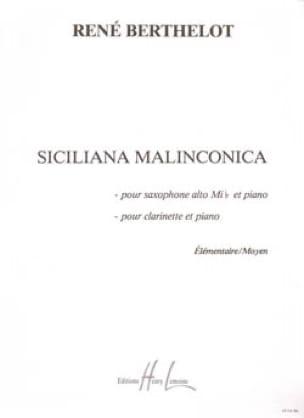 Siciliana malinconica - René Berthelot - Partition - laflutedepan.com
