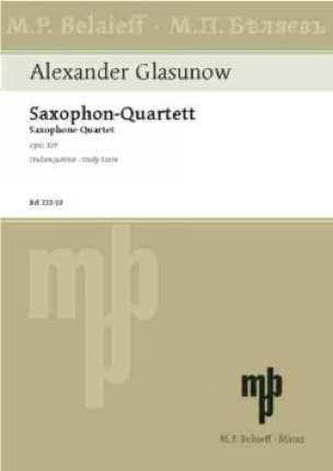 Saxophon-Quartett op. 109 - Partitur - laflutedepan.com