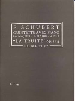 Quintette op. 114 La Truite - Conducteur SCHUBERT laflutedepan