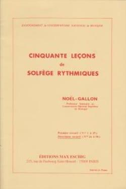 50 Leçons de Solfège Rythmique Volume 2 Noël Gallon laflutedepan