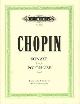 Sonate op. 65 / Polonaise op. 3 CHOPIN Partition laflutedepan