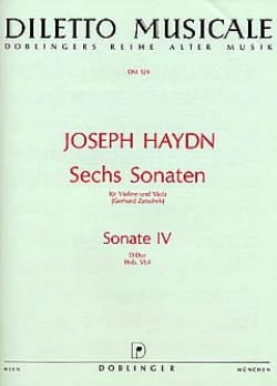 Sonate n° 4 D-Dur Hob. 6 n° 4 HAYDN Partition 0 - laflutedepan