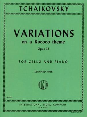 TCHAIKOVSKY - Variationen über ein Rokoko Thema op. 33 - Partition - di-arezzo.de