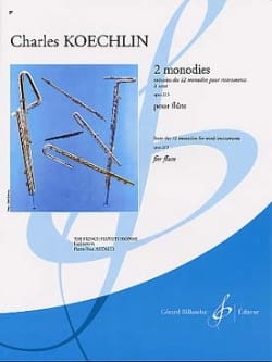 2 Monodies op. 213 - Flûte Charles Koechlin Partition laflutedepan