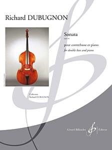 Sonate Op. 44 Richard Dubugnon Partition Contrebasse - laflutedepan