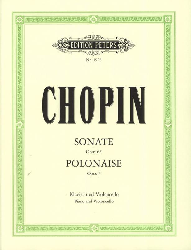 Sonate op. 65 / Polonaise op. 3 - CHOPIN - laflutedepan.com