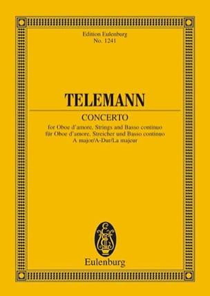 Oboe d'amore-Konzert A-Dur TELEMANN Partition laflutedepan