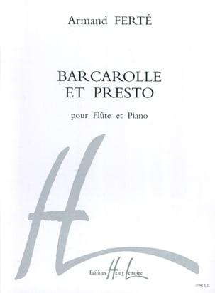 Barcarolle et Presto Armand Ferté Partition laflutedepan