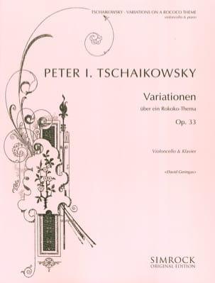 TCHAIKOVSKY - Variationen über ein Rokoko-Thema op. 33 - Partition - di-arezzo.de