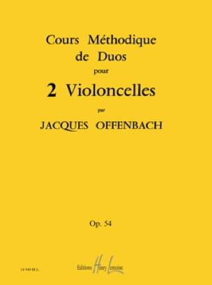 Cours Méthodiques de Duos pour 2 Violoncelles Op 54 - laflutedepan.com