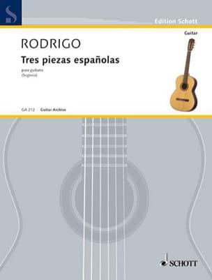 3 Piezas espanolas RODRIGO Partition Guitare - laflutedepan