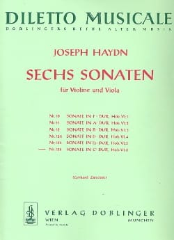 Sonate Nr. 6 C-Dur HAYDN Partition 0 - laflutedepan