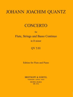 Concerto in D minor QV 5 : 81 - Flute piano - laflutedepan.com