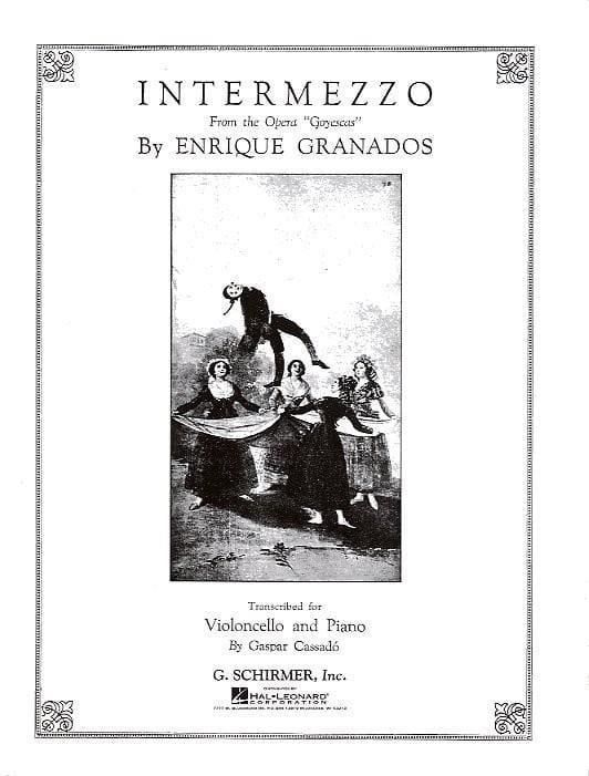 Intermezzo - GRANADOS - Partition - Violoncelle - laflutedepan.com