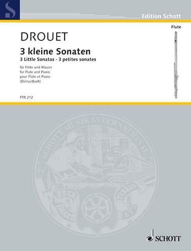 3 Petites Sonates - Louis Drouet - Partition - laflutedepan.com