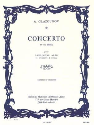 Concerto Saxophone en mi bémol op. 109 - Conducteur laflutedepan