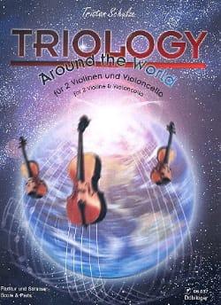 Triology - 2 Violins / Cello Tristan Schulze Partition laflutedepan