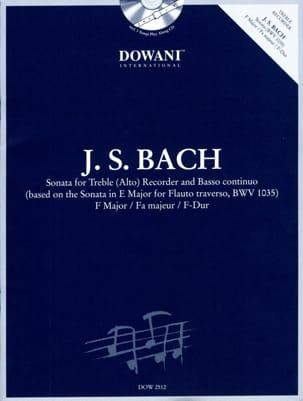 Sonate en fa maj. BWV 1035 -Treble recorder Bc BACH laflutedepan