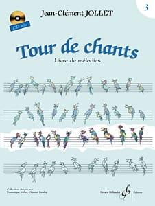 Tour de Chants Volume 3 Jean-Clément Jollet Partition laflutedepan