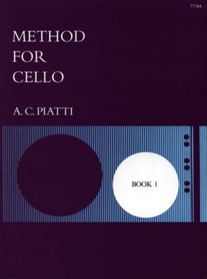 Method for Cello - Book 1 A. C. Piatti Partition laflutedepan