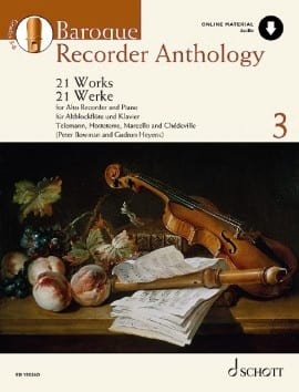 Baroque Recorder Anthology Volume 3 Partition laflutedepan
