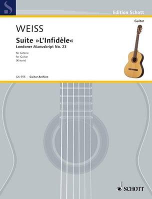 Suite L' Infidèle Silvius Leopold Weiss Partition laflutedepan