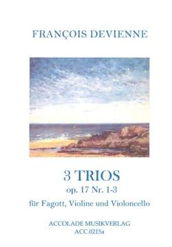 3 Trios op. 17, n°1-3 DEVIENNE Partition Trios - laflutedepan