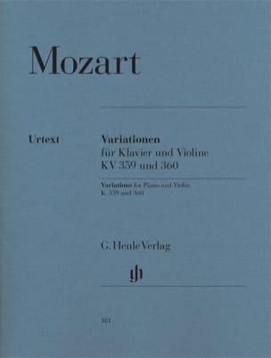 Variations pour piano et violon - KV 359 et KV 360 MOZART laflutedepan