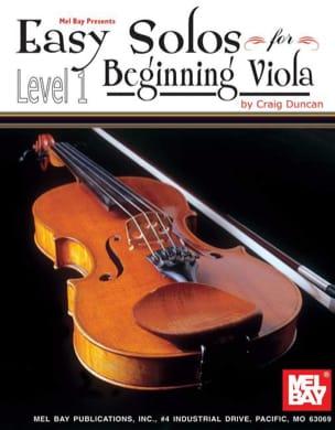 Easy Solos for beginning Viola - Level 1 Craig Duncan laflutedepan