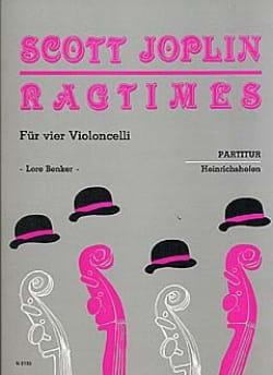 Ragtimes für 4 Violoncelli - Partitur JOPLIN Partition laflutedepan