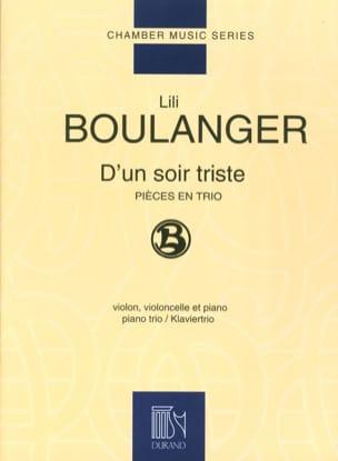 D'un soir triste Lili Boulanger Partition Trios - laflutedepan